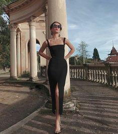 2020 black Prom Dress, Long Prom Dress Simple Prom Dress – classygown Source by hossyxsharif dresses Dress Outfits, Dress Up, Fashion Dresses, Dress Long, Tank Dress, Modest Fashion, Work Outfits, Fashion Clothes, Dress Shoes