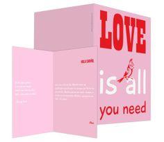 Love is all you need (rosa) - #felicitación de #SanValentín
