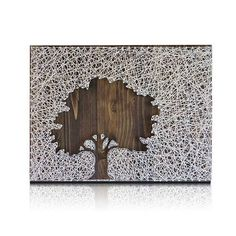 One-of-a-kind home decor wall art that you make yourself. Keep it or gift it... either way you'll be a winner with this unique tree string art for your home or