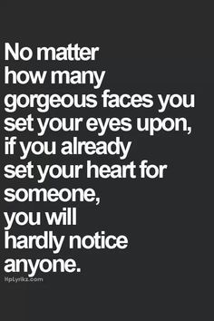 is your heart already set for someone?