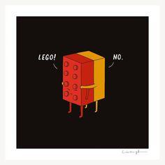I will never Lego. Jay Mug