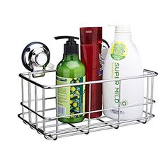 Asixx Shower Shelf Shower Organiser Shower Rod Storage Shelf Shower Tray Holder Practical Bathroom Accessory for 24mm Hole in Diameter Made of ABS Material Chrome Plated Surface