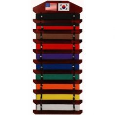 RED OAK DISPLAY BELT RACK #10 (36 - Dynamics - Uniform - Martial Art