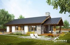 old english house Beautiful House Plans, Simple House Plans, My House Plans, Bungalow Haus Design, Modern Bungalow House, House Roof, Facade House, Style At Home, Small Country Homes