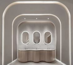 WONDERLAND GALLERY by Ministry of Design – mooool Lavatory Design, Washroom Design, Bathroom Interior Design, Wc Design, Toilet Design, Wall Cladding Designs, Toilet Cubicle, Restaurant Bathroom, Spa Treatment Room