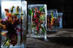 Flower Bouquets Frozen in Blocks of Ice by Makoto Azuma | Spoon & Tamago
