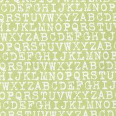 Robert Kaufman House Designer - Cozy Cotton Flannel - Typewriter Text in Pistachio