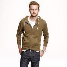Cotton-cashmere zip hoodie : sweaters | J.Crew