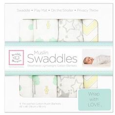 This SwaddleDesigns x Green Woodland Fun! Muslin Swaddle Blanket Set by SwaddleDesigns is perfect! Muslin Blankets, Muslin Swaddle Blanket, Swaddle Wrap, Swaddling Blankets, Thing 1, Pink Zebra, Organic Baby, Baby Gifts, Barn