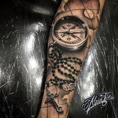 Best tattoos by artextattooink Ship Tattoo Sleeves, Forearm Sleeve Tattoos, Best Sleeve Tattoos, Tattoo Sleeve Designs, Roseary Tattoo, Flesh Tattoo, Grey Tattoo, Dope Tattoos, Body Art Tattoos