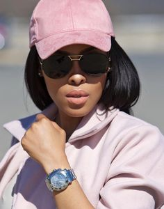 Pink Suede // Suede cap @prettycouturesa , Marc Jacobs sunglasses @theeyemakers Chopard watch @bellagio_jewellers , Trench coat @meandyouclothing // Fashion Look by K E F I L W E M A B O T E
