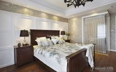 American country mix of bedroom decoration 2015