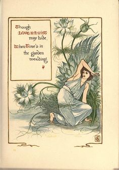 An image from A Floral Fantasy by Walter Crane.  Lovely Art Nouveau images!