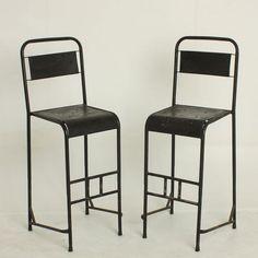 Baarituoli, musta, Iron bar chair