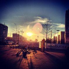 beautiful sunrise in Berlin