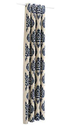 Grommet Blue Ikat Curtain Panels.