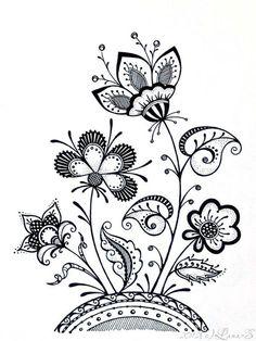 New flowers drawing doodles mandalas tangle patterns ideas Zentangle Drawings, Doodles Zentangles, Zentangle Patterns, Doodle Drawings, Embroidery Patterns, Zen Doodle Patterns, Doodle Borders, Doodle Art, Tangle Doodle