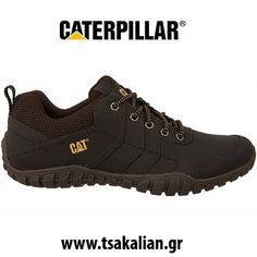 Construction of shoes Caterpillar is a household name in the construction and mini. Caterpillar Shoes, Cat Shoes, Designer Wear, Lace Up Boots, Shoe Collection, Leather Shoes, Hiking Boots, Footwear, Mens Fashion