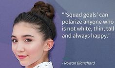 Rowan Blanchard On The Problem With 'Squad Goals'