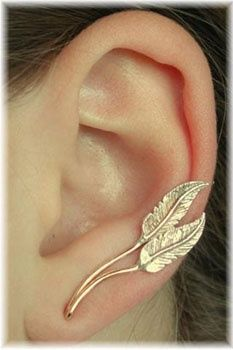 feather earrings!