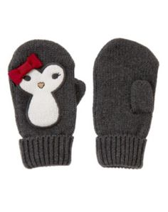 the most adorable penguin mittens ever! All About Penguins, Cute Penguins, Penguin Love, Toys For Girls, Business Casual Dress Code, Toddler Fashion, Spirit Animal, Mittens, Knitted Hats