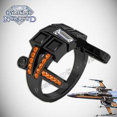 Poe Dameron's X-Wing Fighter Unisex Star Wars by DymondNcrustD