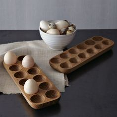wooden egg trays