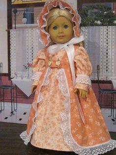 """Regency Springtime Ensenble"" for Caroline etc. 18"" American Girl Doll Clothes #Handmade #DollClothes"