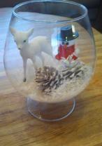 Sneeuw, kerst, vaas, kerstideeen, kerstvaas, sneeuwpop, hert, dennenappels, christmas, Kerst