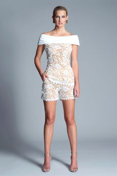 Uma Shorts from Julian Chang. Chic lace shorts featuring elastic waist. $150