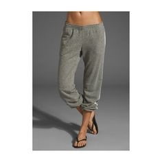 Gypsy 05 Chloe Sweatpant in Heather ❤ liked on Polyvore featuring activewear, activewear pants, loose sweatpants, sweat pants and gypsy05