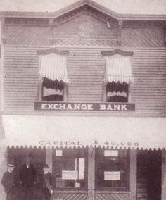 The original Exchange Bank on Water Street, Clayton was moved to the location of the Eagle Shoppe on Riverside Drive, Clayton.