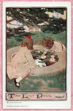 Jessie Wilcox Smith (American 1863-1935) - The Lily Pool; The Child in a Garden - From Scribner's Monthly Magazine for December 1903