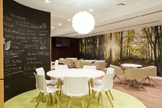 Colorful Conference and Meeting Spaces in London Financial Office