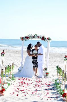 Elegant Beach Wedding Under An Canopy Cocoa Florida RomanticFloridaBeachWeddings