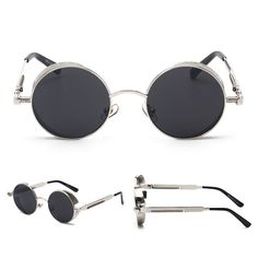 Awesome style combined with exceptional quality, performance, and comfort. Complete your look with these amazing Steampunk sunglasses.  https://steampunkheaven.net/products/steampunk-classic-circular-frame-sunglasses?variant=28988349842