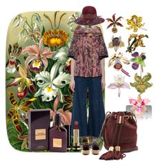 """Orchids"" by mermaiden ❤ liked on Polyvore featuring Etro, Chloé, Miu Miu, Gucci, Tom Ford, Kenneth Jay Lane, Jay Strongwater, NOVICA and See by Chloé"
