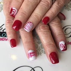 """Get your #gameDayNails at Polished! Boomer..Sooner! #handpaintednailart #Oklahoma #Sooners  #GameDay #OUvsTexasWeekend #OUvsTexas #RedRiverRivalry #RedRiverShootout #Norman #OklahomaCity #Oklahoma  #OU #sooner #sooners #boomerSooner #UniversityOfOklahoma  #GameDayReady #CollegeFootball #football #soonerNation  #naildesign #nailswag #nailart #instaNails #instagood"" Photo taken by @polishednailsok on Instagram, pinned via the InstaPin iOS App! http://www.instapinapp.com (10/07/2015)"