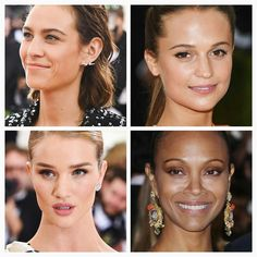 Some natural makeup looks at the Met Gala last night.