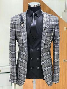 Blazer Outfits Men, Mens Fashion Blazer, Mens Fashion Wear, Suit Fashion, Fashion Outfits, Fashion Sites, Fashion Boots, Dress Suits For Men, Suit And Tie