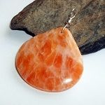 Orange Calcite Gemstone Pendant
