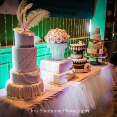 wedding expo booth ideas | Beautiful Couture wedding cakes | Bridal Show - cake booth ideas