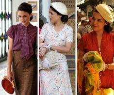 Adriana Ugarte in Vintage 1940s Fashion | Spanish TV Show El Tiempo Entre Costuras- The Time in Between
