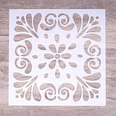 Printable Stencil Patterns, Wall Stencil Patterns, Stencil Templates, Stencil Diy, Stencil Painting, Stencil Designs, Fabric Painting, Flower Stencils, Stenciling