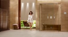 GROHE, the world's leading bathroom fittings supplier, is known for its dedication not only to quality and performance, but also to design. Their vision is to transform the bathroom from a mere functional space into an inspiring home spa so it's fair to say we felt pretty proud when our silk georgette stone was chosen to feature in the global campaign for their new F-digital Deluxe collection.