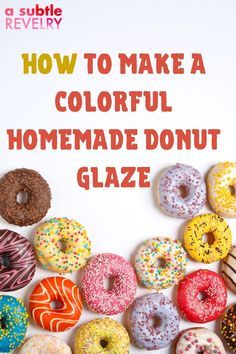 If you like frosting then you really want to check out glazing. A Subtle Revelry has some awesome tips to share with you on how to make homemade colorful donut glaze. It is so easy that younger children can join in the fun. When you glaze your donuts you have so many topping options available to you. It does not take a long time to make and everyone will enjoy the results both visually as well as find it all very tasty. So have fun! Get the details here… #donutglaze #colorglaze #funglaze Homemade Donut Glaze, Homemade Donuts, Frosting Techniques, Frosting Tips, Making Donuts, Colorful Donuts, Wilton Tips, Easy Minecraft Cake, Pink Food Coloring