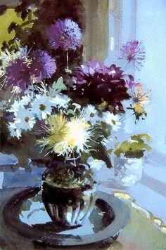 John Yardley - Results Searchya - Search Results for Yahoo France image search Watercolor Landscape, Watercolor And Ink, Watercolour Painting, Watercolor Flowers, Art Floral, Painting Still Life, Still Life Art, Art Aquarelle, Still Life Flowers