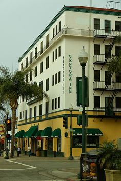 The Hotel Ventura as it looks today.  Now is the Ventura Inn, senior housing at Main and California Streets, downtown.  Three blocks from the beach?  Send me an application!