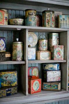 Vintage Tins for containers