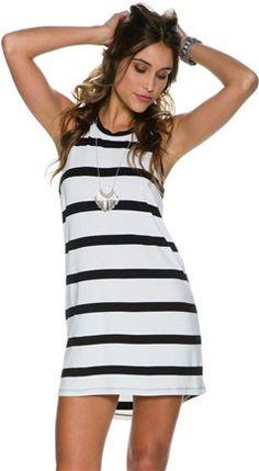 HURLEY AILEEN BIKER TANK DRESS. http://www.swell.com/New-Arrivals-Womens